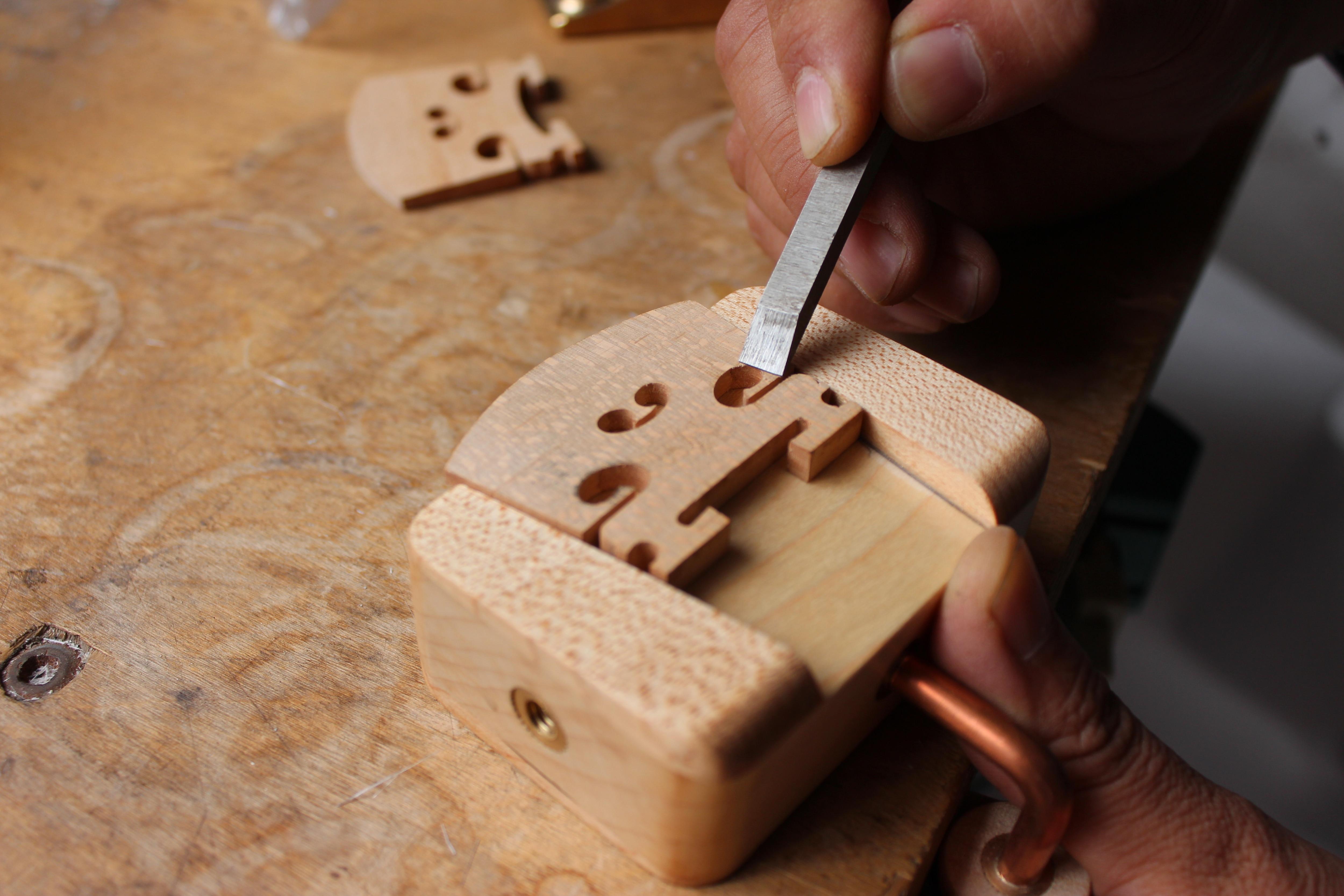 Making&Repairing Violin Viola Bridge Clamp Tools Solid Wood Tool