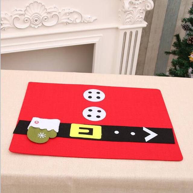 sanyi non woven christmas table mats insulated mats placemats napkins cloth decoration cover for kitchen - Christmas Napkins Cloth