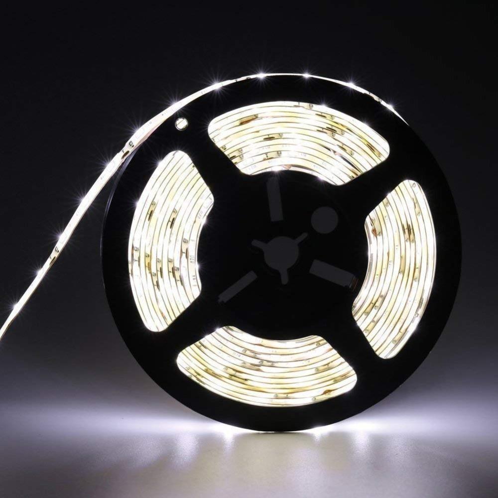Water-Resistance IP65 12V Flexible LED Strip Light 3528 White LED Tape Lights Slim compact and flexible LED light strip bande