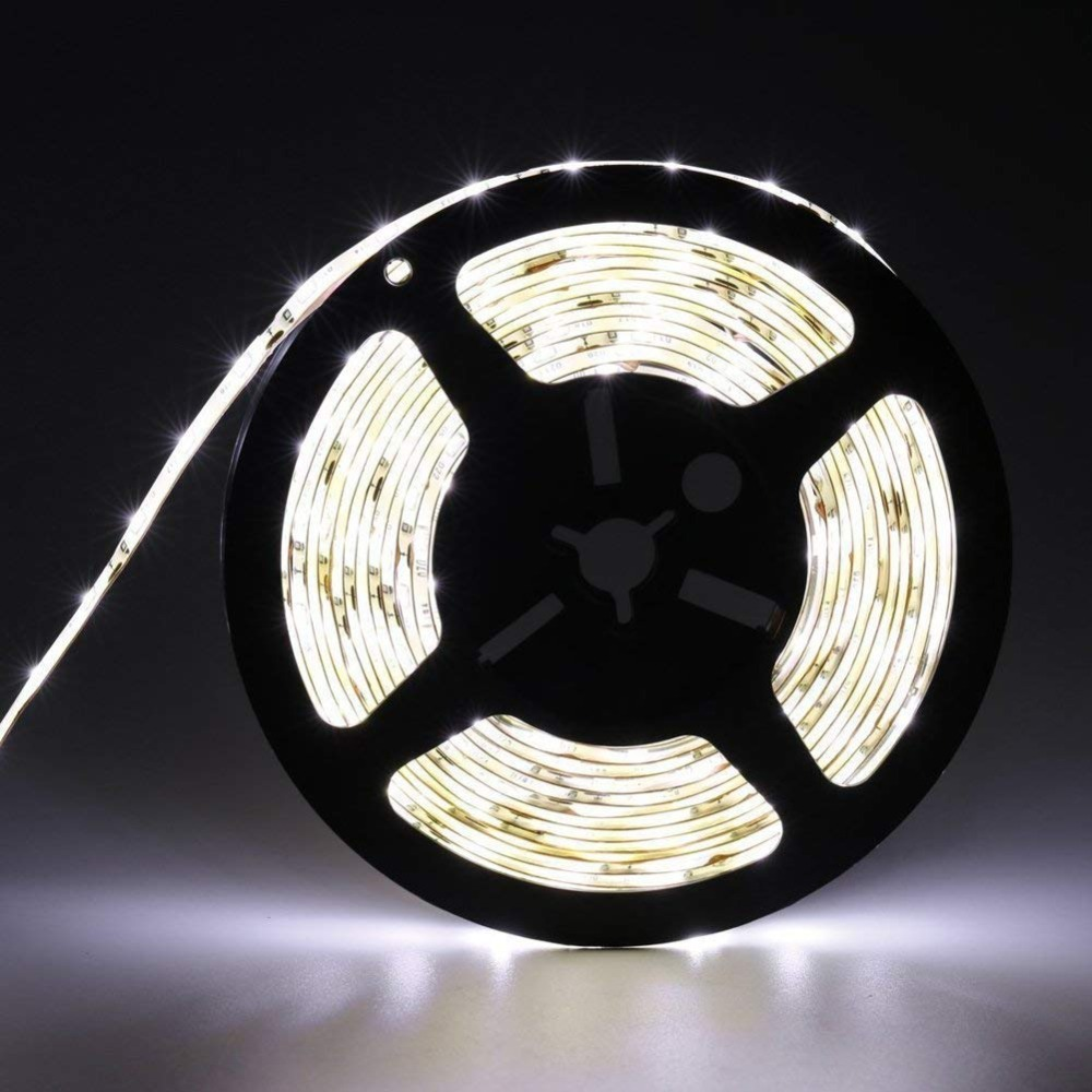 Water-Resistance IP65 12V Flexible LED Strip Light 3528 White LED Tape Lights Slim compact and flexible LED light strip bande
