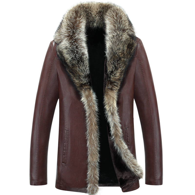 Men Autumn Winter Leather Jacket Motorcycle Genuine Leather Jackets Male Business casual Coats New Natural sheep skin clothing