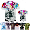 Mens T Shirts 3D Prited Short Sleeve Fashion Casual O Neck Brain Hole Men Shirt Brand Clothing