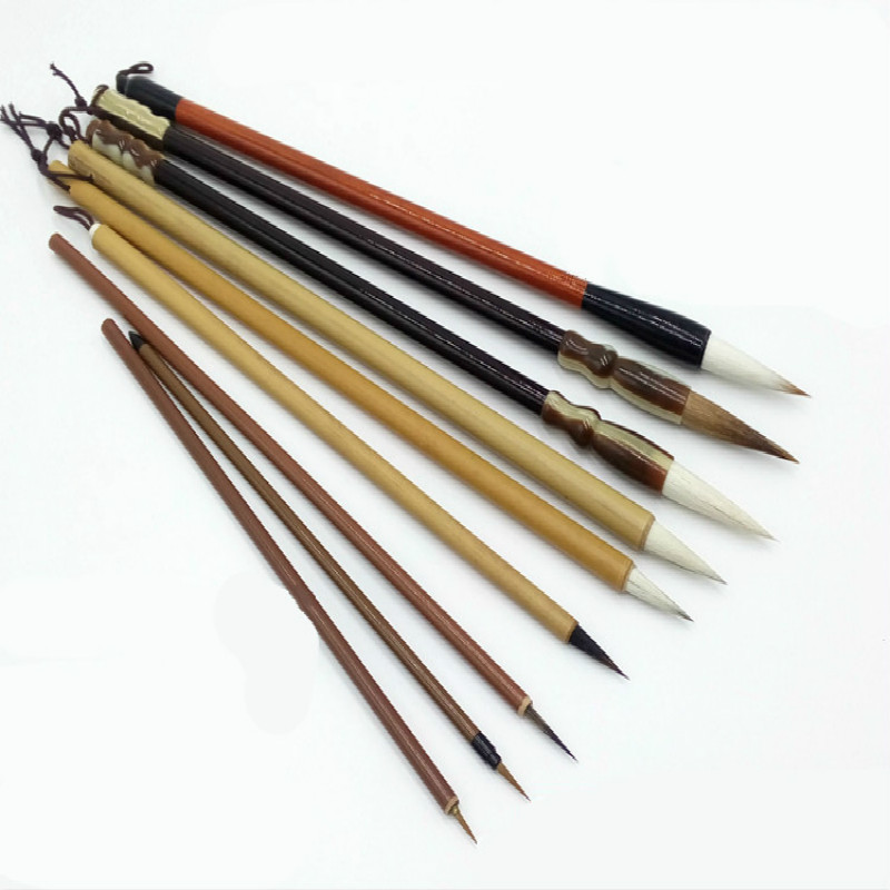 9pcs/set Profession Painting Supplies Calligraphy Brushes Meticulous Painting Writing Brush Srudent Multiple Hairs Writing Brush chinese traditional calligraphy brush student lanscape painting calligraphy multiple hairs writing brush 3pcs set