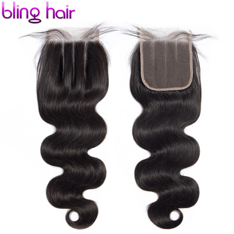 Bling Hair 7x7 Lace Closure Free/Middle/Three Part With Baby Hair Brazilian Body Wave Human Hair Closure 100% Remy Natural Color Lahore