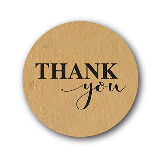 500pcs Kraft paper thank you sticker for thanksgiving decorations for home wedding party decoration halloween decoration in Party DIY Decorations from Home Garden