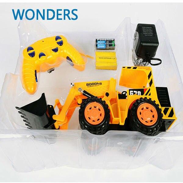 Супер! Крупномасштабное погрузчик игрушка модели RC проектирование ван с пакетом игрушка транспортных средств