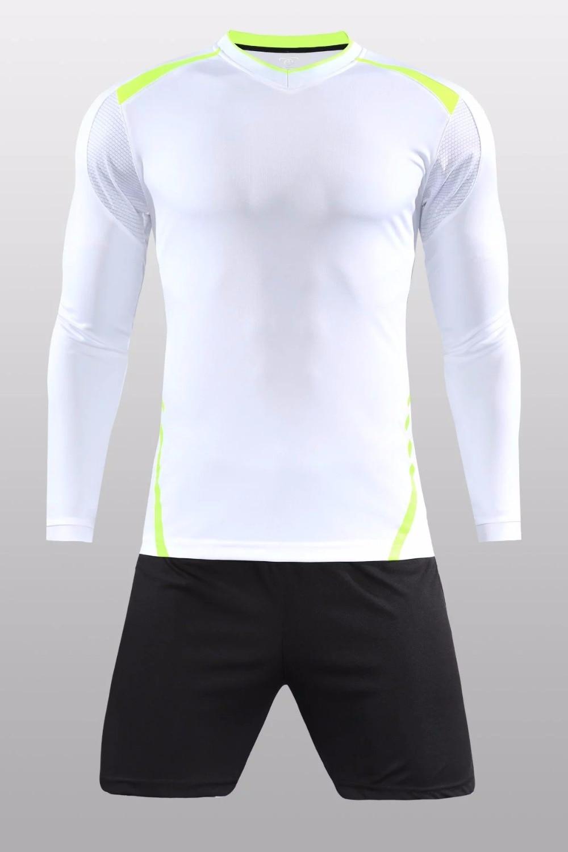 b9e31607297 2018/19 Adult full football jerseys, long football team, training kit,  custom