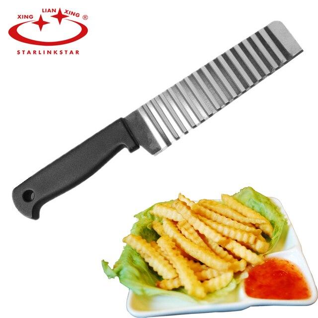Potato Francese Fry Cutter In Acciaio Inox Accessori Da Cucina Lama Seghettata F