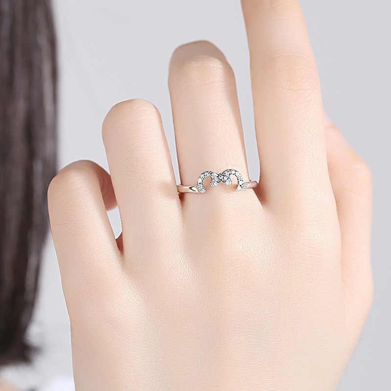 ELESHE แท้ 100% 925 เงินสเตอร์ลิงล้าง CZ คริสตัล Minnie โบว์โบว์สำหรับงานแต่งงานของขวัญเครื่องประดับ Bijoux