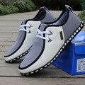 Moda Negocio de Los Hombres Británicos Zapatos Casuales Gran Tamaño Breathablelace-para arriba a Los Holgazanes Planos de Los Hombres Zapatos Cómodos Zapatos de Cuero 2.5A