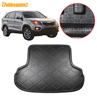 Buildreamen2 For Kia Sorento Car Trunk Mat Tray Boot Liner Tail Floor Cargo Carpet Mud Protector Pad Styling 2006 2007 2008