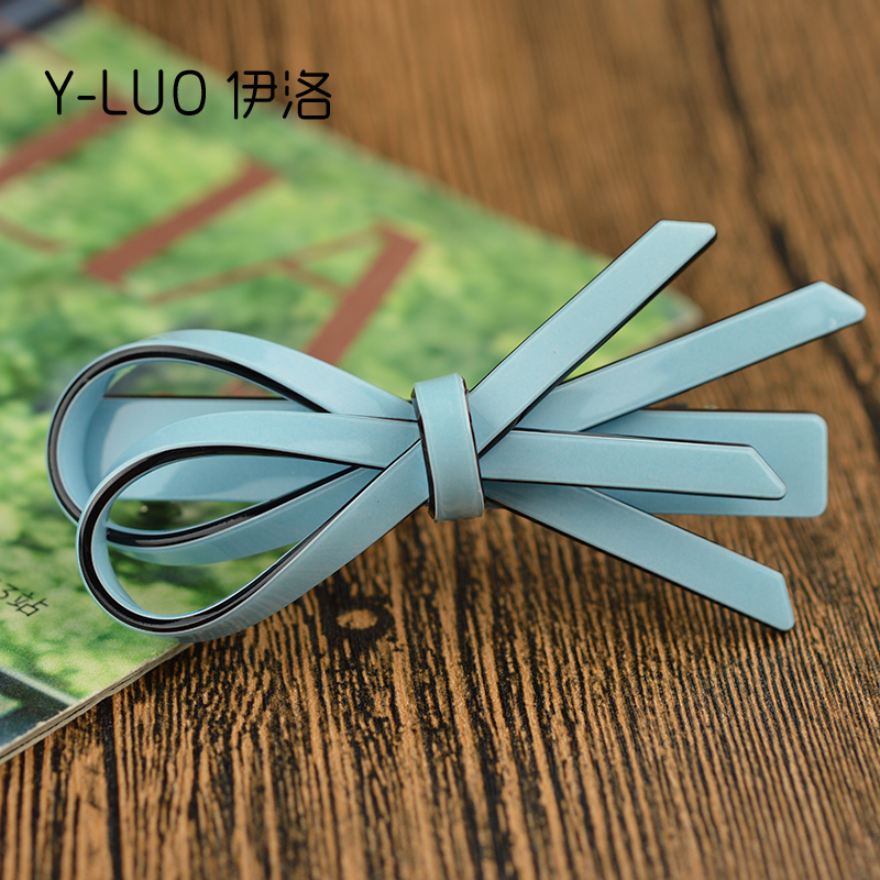 Women hair accessories bow hair clip High Quality  Acetate Ribbon Retangular Hair Clip 9cm Long  Hot!!!  FREE SHIPPING