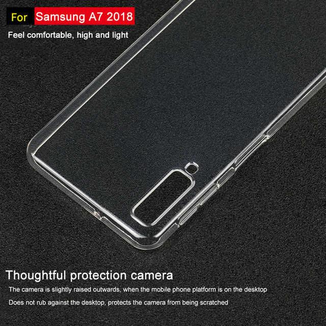 شفاف حقيبة لهاتف سامسونج جالاكسي A7 2018 سيليكون لينة غطاء خلفي لهاتف سامسونج جالاكسي S8 s9 plus A7 2018 كابا كوكيه