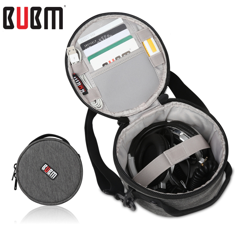 BUBM earphone headset foldable headphone bag mounted high magic sound headset receiving package admission with shoulder belt