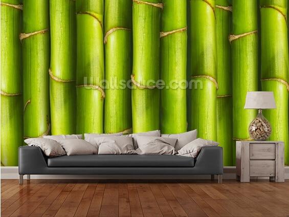 Custom photo wallpaper, Bamboo - Light Green,3D wallpaper mural for living room bedroom restaurant wall waterproof PVC wallpaper  free shipping basketball function restaurant background wall waterproof high quality stereo bedroom living room mural wallpaper
