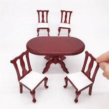 miniature table chair 1/12 wooden kitchen sets miniatura dollhouse furniture for dolls house girls children gift handmade цена 2017