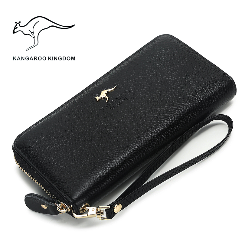 Image 2 - Kangaroo Kingdom Luxury Women Wallets Genuine Leather Pusre Brand Wallet Ladies Clutchwallet ladybrand women walletwomen brand wallet -