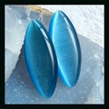 Natural Gemstone Blue cymophane Cabochons 60*24*7mm,36.2g jewelry accessories