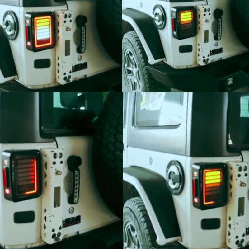 07-16 for Jeep Wrangler LED Tail Lights Rear Brake Reverse Lamps for jeep JK USA/European Braking Rear Lamp