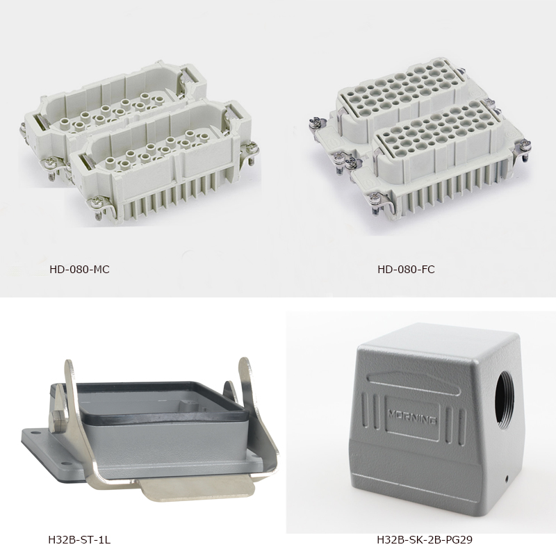 China Price HD 080 10a80 Pins Crimp Heavy Duty Connector