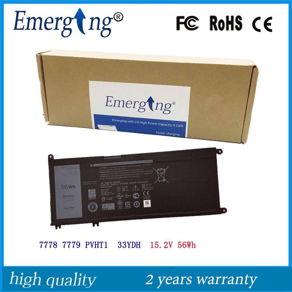15.2V 56Wh New Original Laptop Battery for Dell inspiron 7778 7779 PVHT1 33YDH