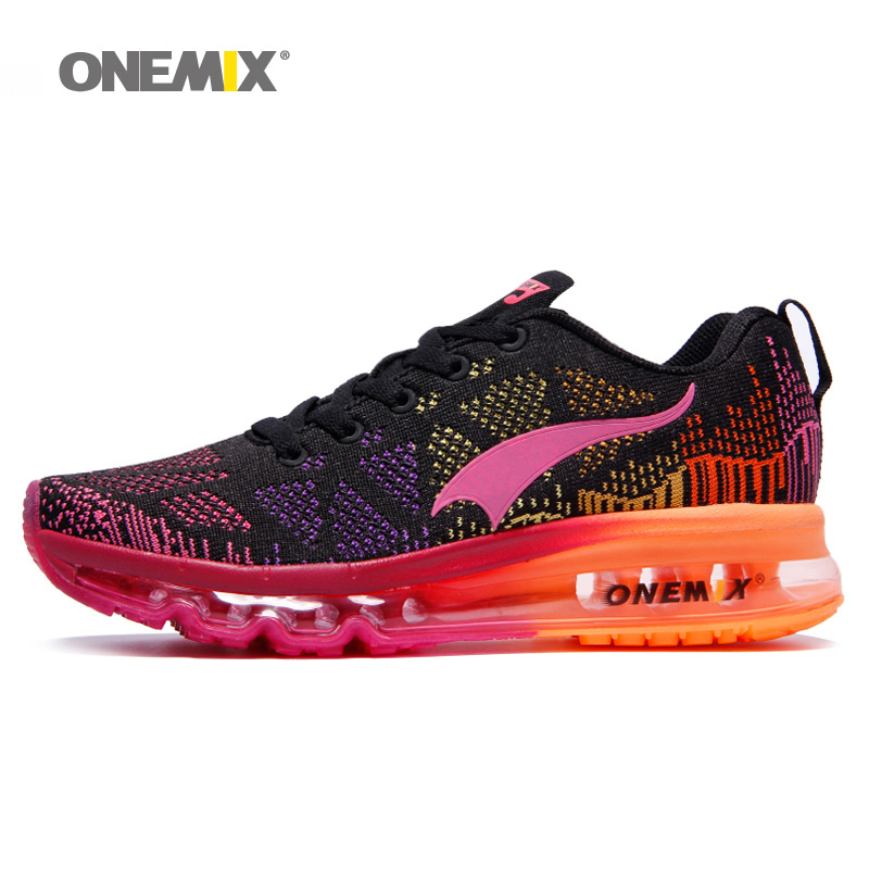 цена Onemix high quality running shoes for women jogging shoes lightweight sport sneakers outdoor athletic walking breathable shoes