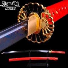 All handmade Katana Sword Japanese Sword Alloy Tsuba Folding steel forging Home decoration knife Practical Sharp