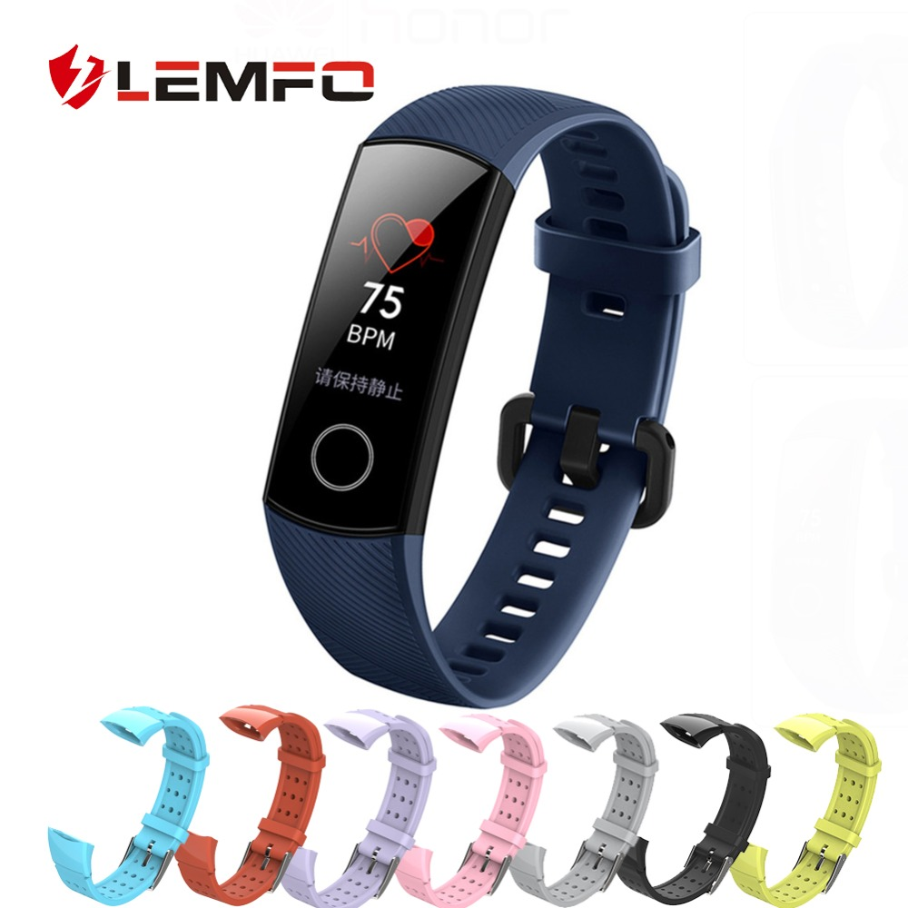 LEMFO Replacement Honor-Band Fitness Bracelet Silicone-Strap Huawei for Fashion 4