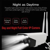 Starlight Full Color Night Vision CCTV Camera A7 HD 1080P Wifi Bullet IP Camera Waterproof IP66 AP Hotspot Motion Detection
