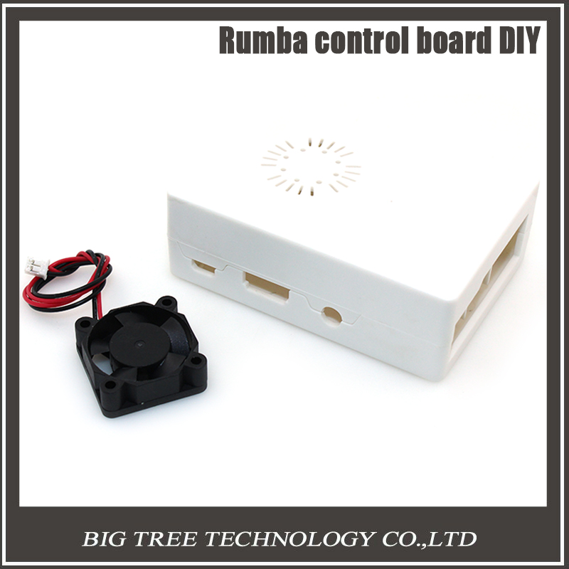 New Raspberry Pi ABS White color case Plastic Box with Cooling Fan module For Raspberry Pi 2 & Raspberry Pi model b plus &3