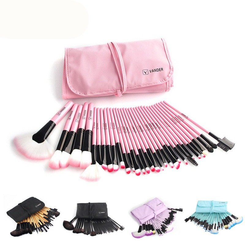 12/18/24/32 Pcs Makeup Brushes Profesional Lembut Kosmetik Make Up Brush Set Yayasan Kabuki Lipstik Sikat Kecantikan maquillaje