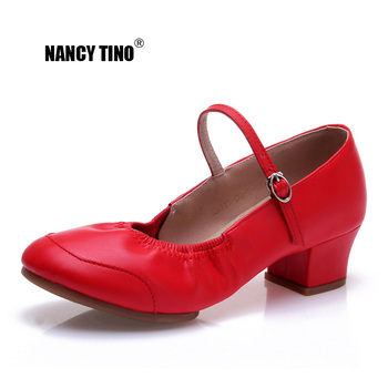 NANCY TINO Woman Square Modern Dance Shoes Ethnic Ballroom Soft Bottom Professional Salsa Jazz Latin Dancing Shoe