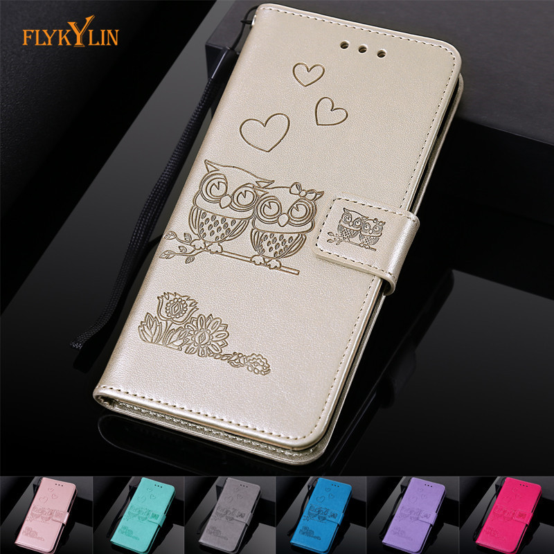 aa6a2f7b48 Leather Cases For iPhone X 8 7 6S 6 Plus Case Couple Owl Cover for Coque iphone  7 Plus XS XS Max XR Flip Wallet Phone Bag shell