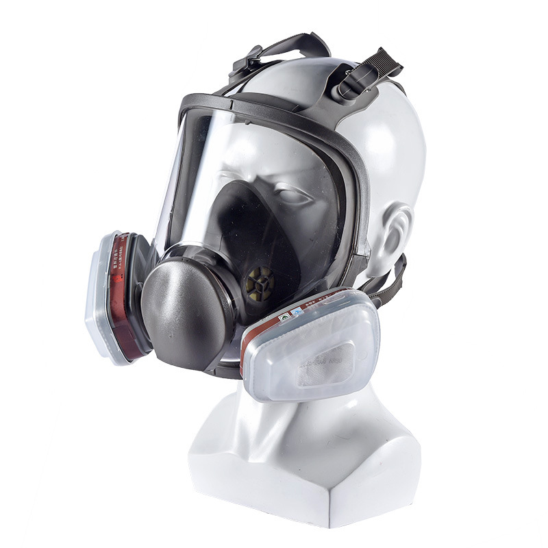 Full Face Gas Mask Activated Carbon Filter Respirator Industrial Dust Mouth Masks Anti-fog Face Shield Painting Spray Welding