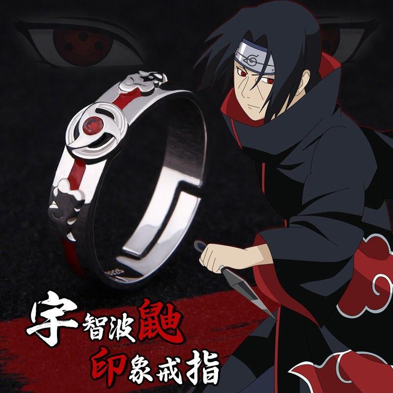 Naruto Uchiha Itachi metal earring ear stud earrings anime Ear Ring one pair new