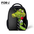 Cool 3D Animal Alligator Print School Bags for Kindergarten Baby Boys Schoolbags Children Kids Toddler Escolar Bolsas Mochila