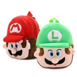 Miękki Nap Super Mario plecak dziecko Toddle torba dla dzieci Baby Boy dziewczyna dzieci Cute Cartoon Character Monster dzieci mała torba szkolna w Torby szkolne od Bagaże i torby na