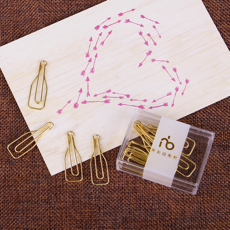 Golden Cocktail Decorative Pin Paperclips Metal Office Clip Paper Clips Gold Paper Clips Kawaii Accessories Kawaii Stationery