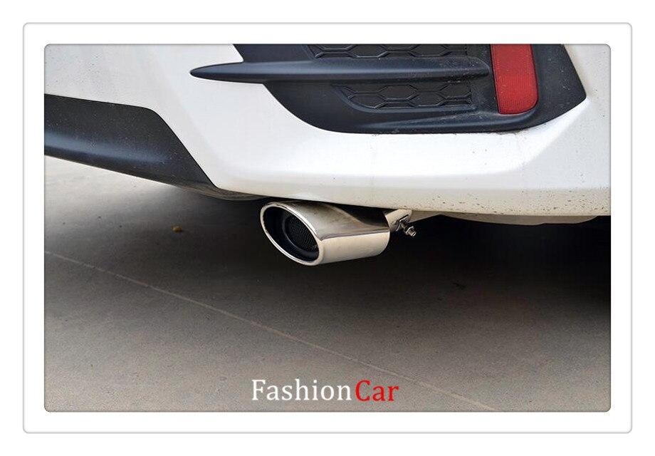 1x for Suzuki Vitara Escudo 2015-2018 steel Rear Exhaust Muffler Tip End Pipe