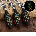 Real Leather Car Key Covers Luminous Key Case Key Holder Car Accessories for Nissan Qashqai Juke X-trail Teana Tiida Car-styling
