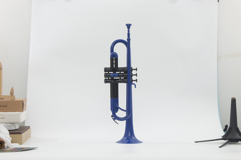 Bb Plastic Trumpet Colorful Finish ABS trumpet With mouthpiece and Bag Musical instruments OEM Dropshipping Wholesale