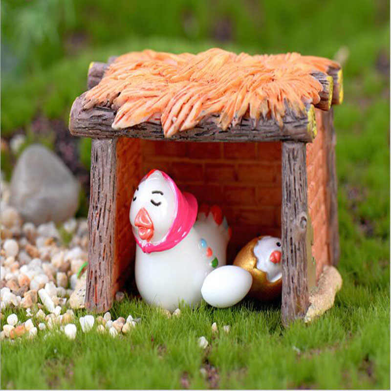 Micro paisaje resina artesanía artículos de mobiliario Guo pollo Moss Material accesorios hogar Decoración