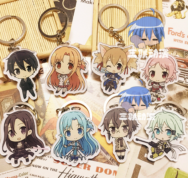 8 pcs lot p e art en ligne mignon pendentifs shino de silice kirito asuna eog sao bande. Black Bedroom Furniture Sets. Home Design Ideas
