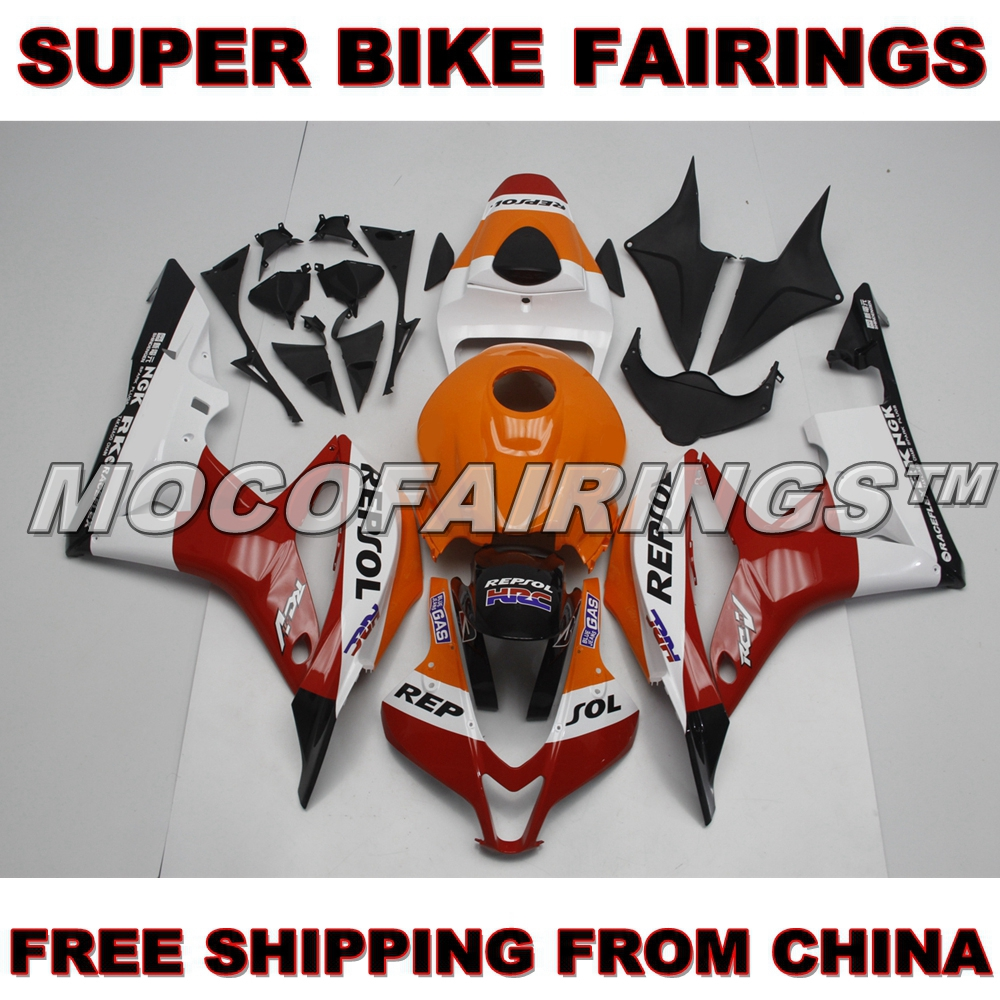 For Honda CBR600RR 2007-2008 07 08 Motorcycle Aftermarket 100% Fitment ABS Fairing Kits REPSOL NEW repsol 100