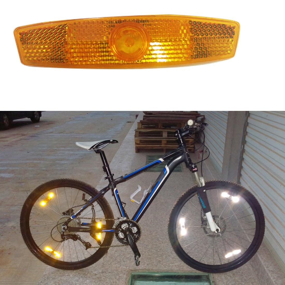 1 Pair Spoke Reflector Warning Lights Wheel Reflective Mountain Bike Bicycle