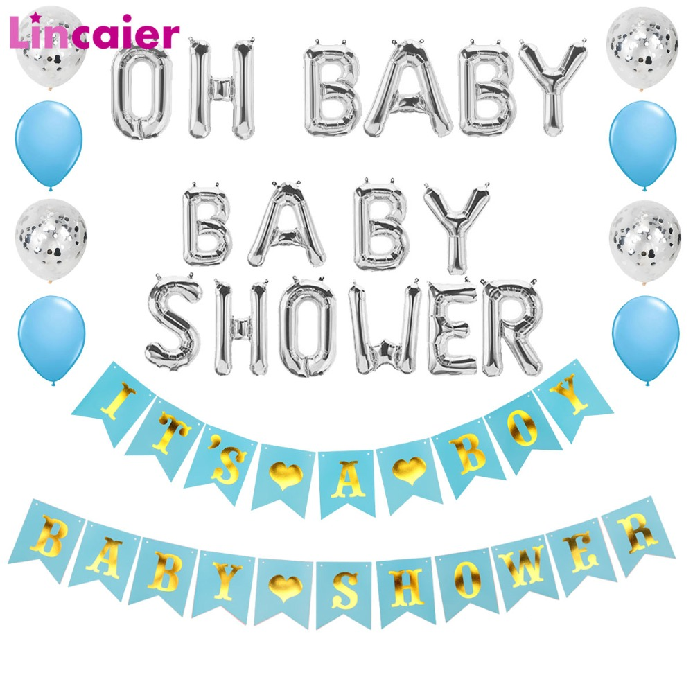 Its a Boy Girl Banner Baby Shower Party Decorations Supplies Christening Favors