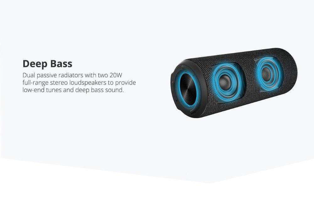Tronsmart T6 Plus Bluetooth Speaker 40W Portable Speaker Deep Bass Soundbar with IPX6 Waterproof, Power Bank Function SoundPulse_03