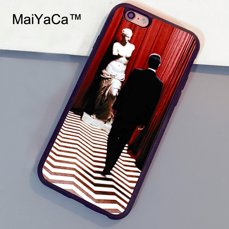 MaiYaCa Twin Peaks Design Printed Soft TPU Rubber Back Cover Case For Apple iphone 6 6s Plus Phone Cases