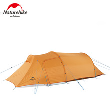 Naturehike Lightweight Outdoor Camping Tents 2 3 4 Person Tunnel Family Party Tent for Hiking Tourism with mat NH17L001-L