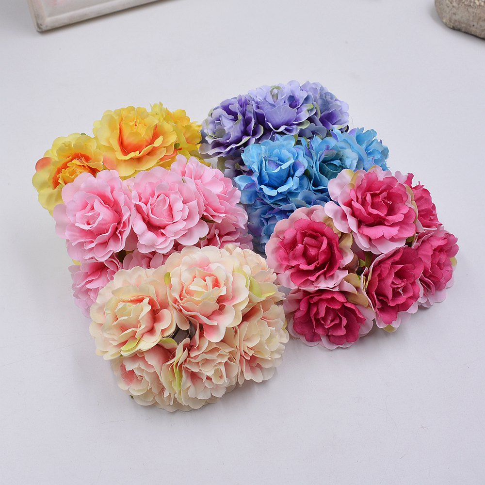 Wholesale 42pcs 45cm Silk Blooming Peony Artificial Flowers For